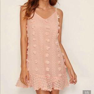 Swiss Dot Ruffle Hem Slip Dress Size US 4 Small